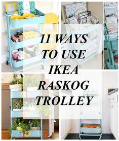 11 Ways To Use Ikea Raskog Trolley   Mina and Her Blog