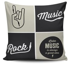 Almofada Music Rock