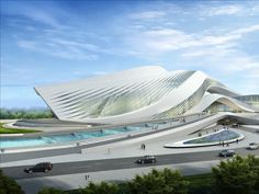Futuristic Architecture, New Century City Art Centre Zaha Hadid Architects Parametric Architecture, Organic Architecture, Futuristic Architecture, Amazing Architecture, Contemporary Architecture, Landscape Architecture, Architecture Design, Architecture Facts, Futuristic Design