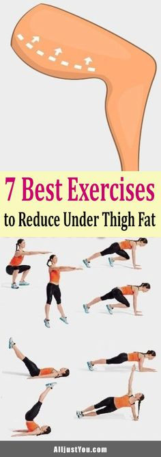 7 Best Exercises to Reduce Under Thigh Fat #health #fitness #diy
