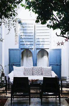 Designer patio Dar Kawa Valerie Barkowski Marrakech Morocco