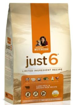 Rachael Ray Nutrish Just 6 Limited Ingredient Dry Dog Food, Lamb & Rice Recipe, 14-Pound Bag by Rachael Ray $16.98