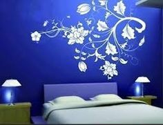 Modern Wall Wallpaper and Wall Stickers Bedroom Wall Designs, Wall Art Designs, Bedroom Ideas, Plant Wallpaper, Wall Wallpaper, Bedroom Wallpaper, Modern Room Design, Bedroom Modern, Modern Wall