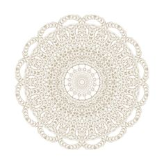 Prim and Purple Beige Doily ❤ liked on Polyvore