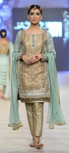 Pakistani designer dress, bridal cuture week 2014. Just too elegant love it