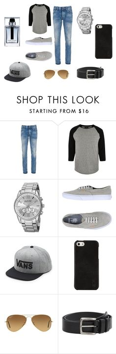 """""""Date Night BF Version"""" by fashionistagirl9898 on Polyvore featuring Denham, River Island, August Steiner, Vans, Polo Ralph Lauren, Ray-Ban, MANGO, Christian Dior, men's fashion and menswear"""