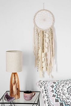 Magical Thinking Vashti Dreamcatcher - Urban Outfitters think Icould make something like this. It's rags, and a lace doily.