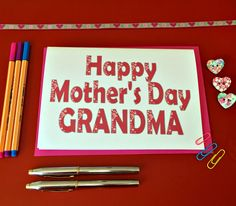 New to weheartcards on Etsy: For Grandma Happy Mother's Day card for Momma Grandmother Personalised Mothering Sunday Free UK Postage  Card for Nanny Nanna Nonna (9.97 GBP)