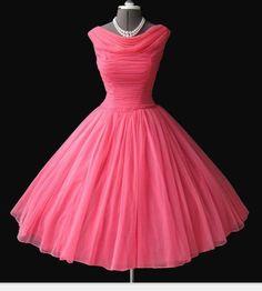 Pink 50s dress