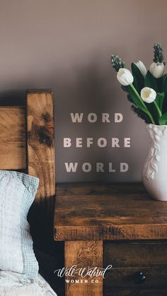 Wake up with the Word.
