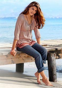 Tunika günstig kaufen beim Ackermann Versand Online Shop Kleidung, Mode Online Shop, Bell Bottoms, Bell Bottom Jeans, Pfaff, Bohemian, Shirts, Inspiration, Casual