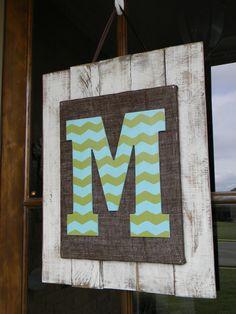 Custom Wooden Baby Inital Door Hanger Wall Art by BeamingCreations