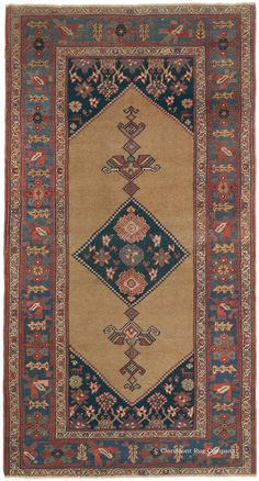 BIJAR CAMELHAIR - Northwest Persian (SOLD) 4ft 7in x 7ft 10in Circa 1875