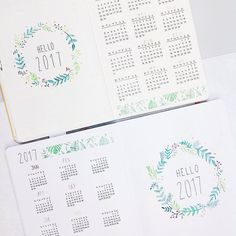 """1,248 Likes, 9 Comments - Maren Janka (@pureplanning_bymj) on Instagram: """"Happy Friday everyone . This week nothing happened in my bujo. So here are the yearly spreads in…"""""""
