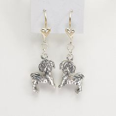 Sterling Silver Shih-Tzu Earrings by Donna Pizarro from her Animal Whimsey Collection of Shih-Tzu Jewelry & Fine Dog Jewelry by DonnaPizarroDesigns on Etsy