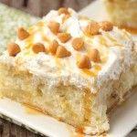 Salted Caramel Apple Poke Cake