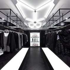 ♂ Retail store masculine interior design Black & white Shine at the Leighton Centre by Nelson Chow