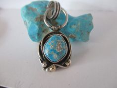 Turquoise Pendant Turquoise Jewelry Blue Turquoise by SterlingWear, $124.50