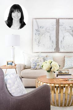Get the look: Chatelaine design expert Samantha Pynn used pops of gold to punctuate this monochromatic living space. We show you how.