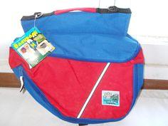 New Sierra Dog Backpack Red Blue Medium Durable Water Resistant #Sierra