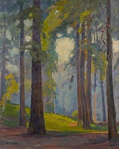 Description: Sunlight through the trees  signed 'Aaron Kilpatrick' (lower left) oil on canvas 30 x 24in  Notes:  PROVENANCE: Estate of the artist