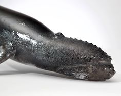THE BLACK WHALE by Artsyglasswebshop on Etsy