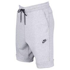 Nike Tech Fleece Shorts - Men's - Casual - Clothing - Carbon Heather/Cool Grey/Black