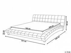 Lit design en tissu - lit double 180x200 cm - sommier inclus - Lille - gris_673759