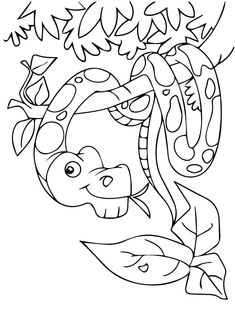 printable snake coloring pages for preschoolers