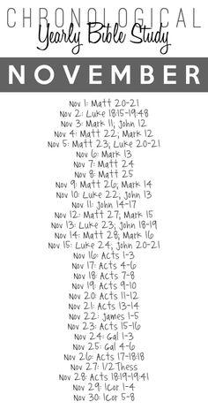 2014 Yearly Bible Study � November {Free Printable Download}