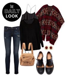 """Look of the day: October 18, 2015"" by sara-lafrench ❤ liked on Polyvore featuring Minimarket, Rebecca Minkoff, rag & bone/JEAN, H&M, Century Seven, Alexander Wang and House of Harlow 1960"