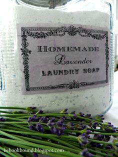 Homemade Lavender Laundry Soap  2 cups Borax (in the laundry aisle)  2 cups Arm & Hammer Washing Soda (also in the laundry aisle)  2 bars of Ivory soap (grated finely) (I used my cheese grater)  2 1/2 pounds Oxy Clean  30 drops lavender essential oil