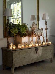 anrichte dekorieren holz sideboard kommode wohnzimmer wandspiege