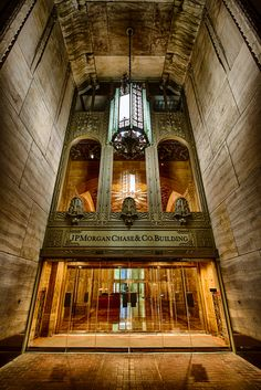 Beautiful architectural treasure in Houston. JP Morgan Chase Building, Houston, Texas
