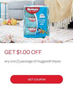 Save $1.00 on Huggies Wipes