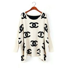 Chanel Sweater (White). Chanel is probably one of the few very recognizable designer houses that I still enjoy...