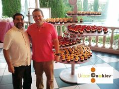 Brady and Sal at Ceasers' Palace with cupcake wars display after the win. Cupcake Wars Winners, Food Network Recipes, Palace, Display, Gourmet, Floor Space, Billboard, Palaces, Castles
