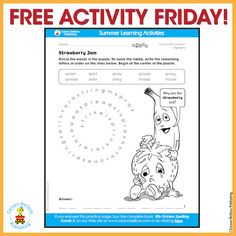 Why was the strawberry sad? Free activity for kids!