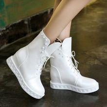 2016 New platform ankle boots women fashion round toe strap Martin boots large size women's shoes white black     Tag a friend who would love this!     FREE Shipping Worldwide     #Style #Fashion #Clothing    Get it here ---> http://www.alifashionmarket.com/products/2016-new-platform-ankle-boots-women-fashion-round-toe-strap-martin-boots-large-size-womens-shoes-white-black/