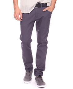 Forever 21 Mens Classic Woven Charcoal Pants