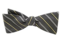 The Highline - Gray/Butter (JTF Bow Ties) at The Tie Bar