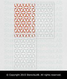 Geometric Allover Stencil Pattern