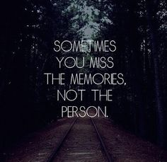 Exactly. I certainly don't miss you, but sometimes for a tiny fleeting moment I briefly miss the memory of the person I thought that you were.........well that person you pretended to be! #fakebitch #don'tmissthedrama