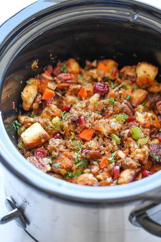 Slow-Cooker Cranberry Pecan Stuffing: Get the recipe: slow-cooker cranberry pecan stuffing.