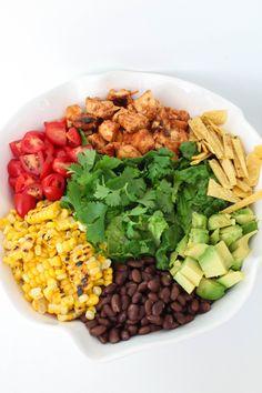 Bites of Bri | BBQ Chicken Chopped Salad with Avocado Ranch Dressing | http://bitesofbri.com