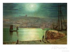 Whitby Harbour by Moonlight, 1870 by John Atkinson Grimshaw at AllPosters.com
