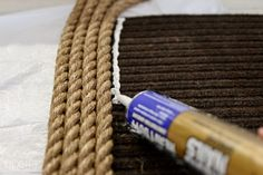 How to turn rope into a beautiful rug   a DIY tutorial by TIDBITS