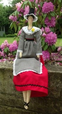 Mad About Bags - my Tilda doll in traditional welsh dress ♡