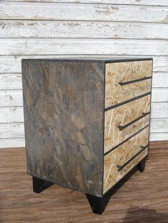 zen monk modular osb dresser with black steel bar pulls by modosb, $199.00
