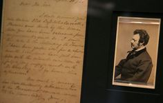 "A letter written by leading actor Edwin Forrest at left written to Fords Theatre owner is shown along with a photograph of John T. Ford at right. Ford was arrested as a suspect along with his two brothers but released six weeks after the assassination. Part of the letter states: ""How much of misery has that dastardly assassination...caused even to the blameless."" David Spencer/The State Journal-Register"